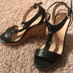 Black wedges size 7